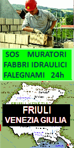 www.superfabbro.it/muratore-friuli-venezia-giulia  PRONTO INTERVENTO 24H in FRIULI VENEZIA GIULIA - MURATORE - IMBIANCHINO - FALEGNAME - FABBRO APERTURA PORTE - IDRAULICO SPURGHI - CALDAIE - ELETTRICISTA - SPAZZACAMINO IN FRIULI VENEZIA GIULIA a GORIZIA, PORDENONE, UDINE